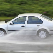 aquaplaning car
